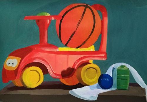 Σπουδή εκ του φυσικού με  παιχνίδια και μπάλα